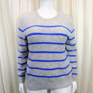 Banana republic blue and gray striped sweater